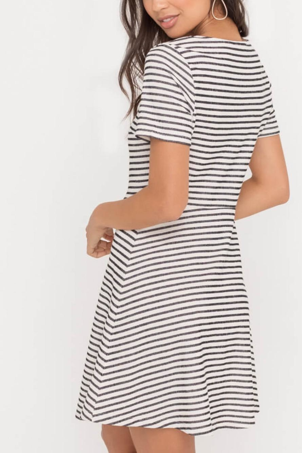 Lush Clothing  Button Down Mini-Dress - Side Cropped Image