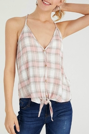 ALB Anchorage Button-Down Plaid Tank - Product Mini Image