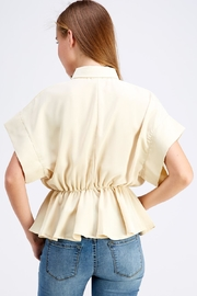 Favlux Button-Down Poncho Top - Side cropped