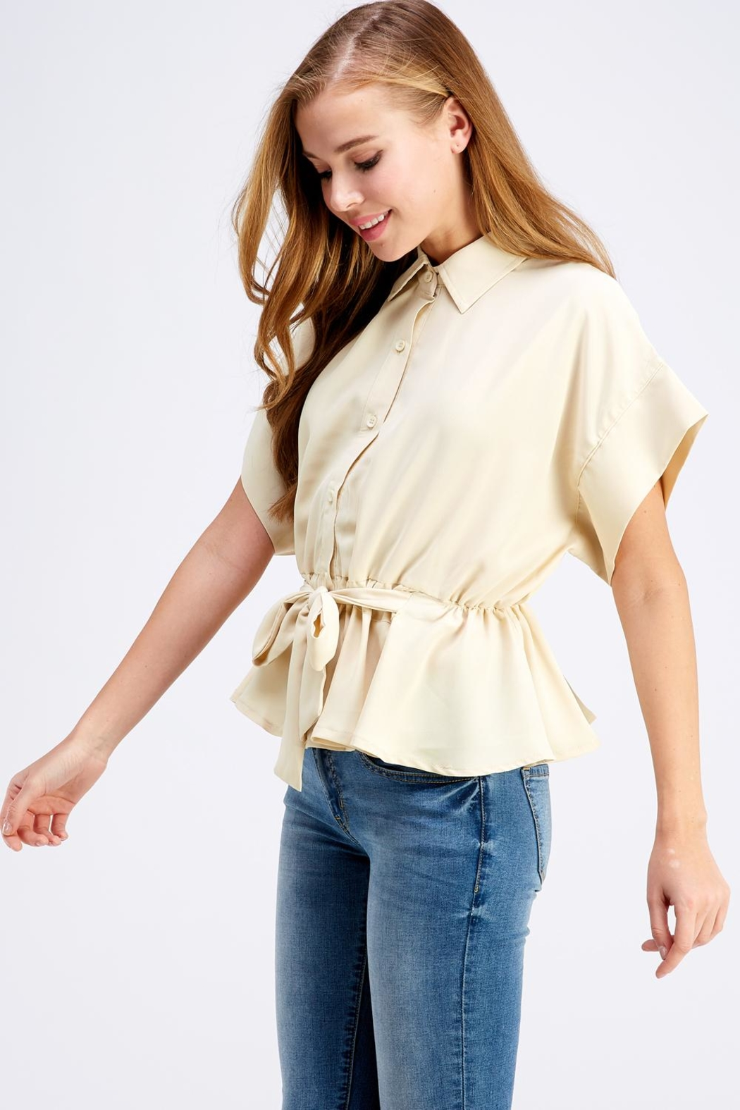 Favlux Button-Down Poncho Top - Front Full Image