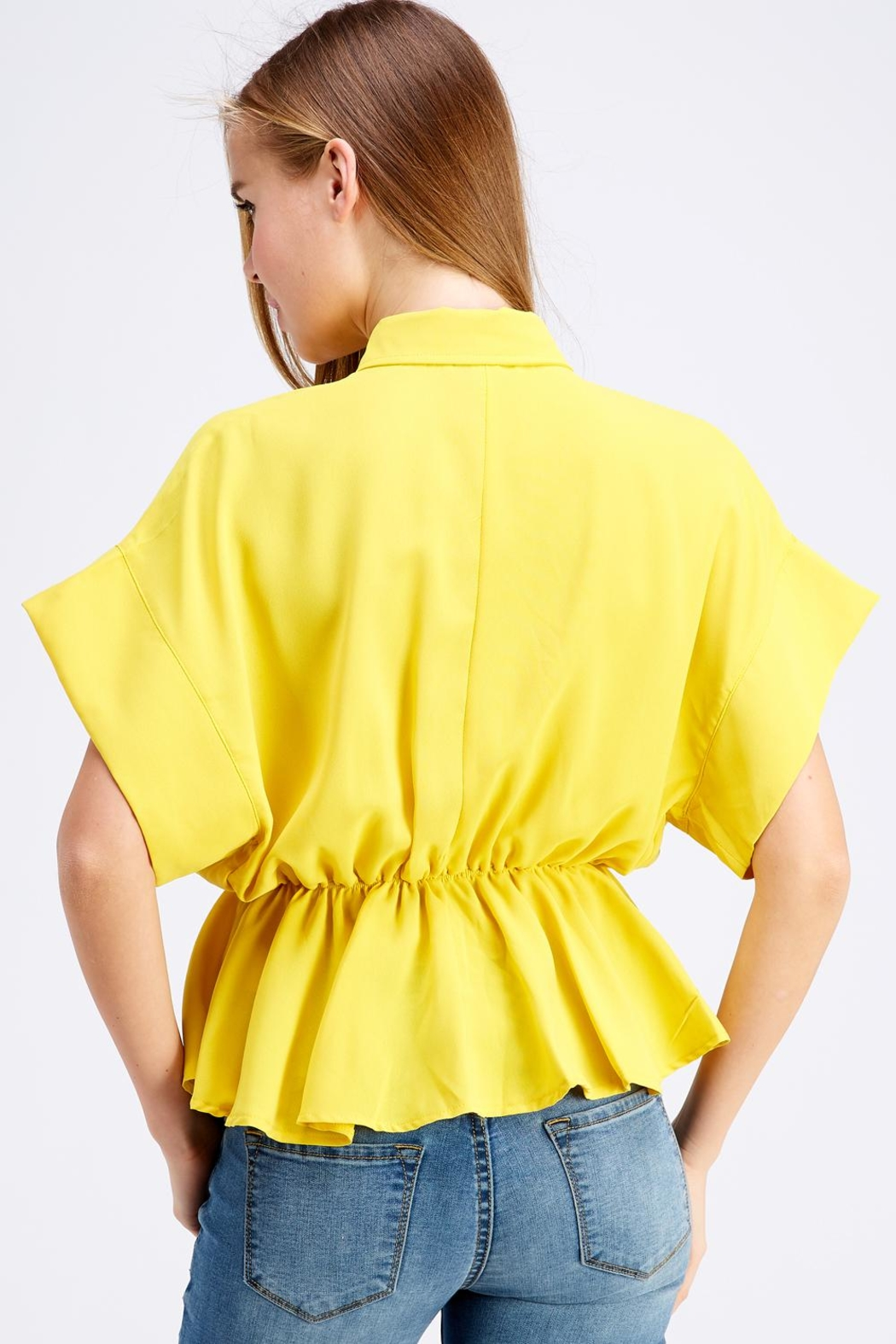 Favlux Button-Down Poncho Top - Side Cropped Image
