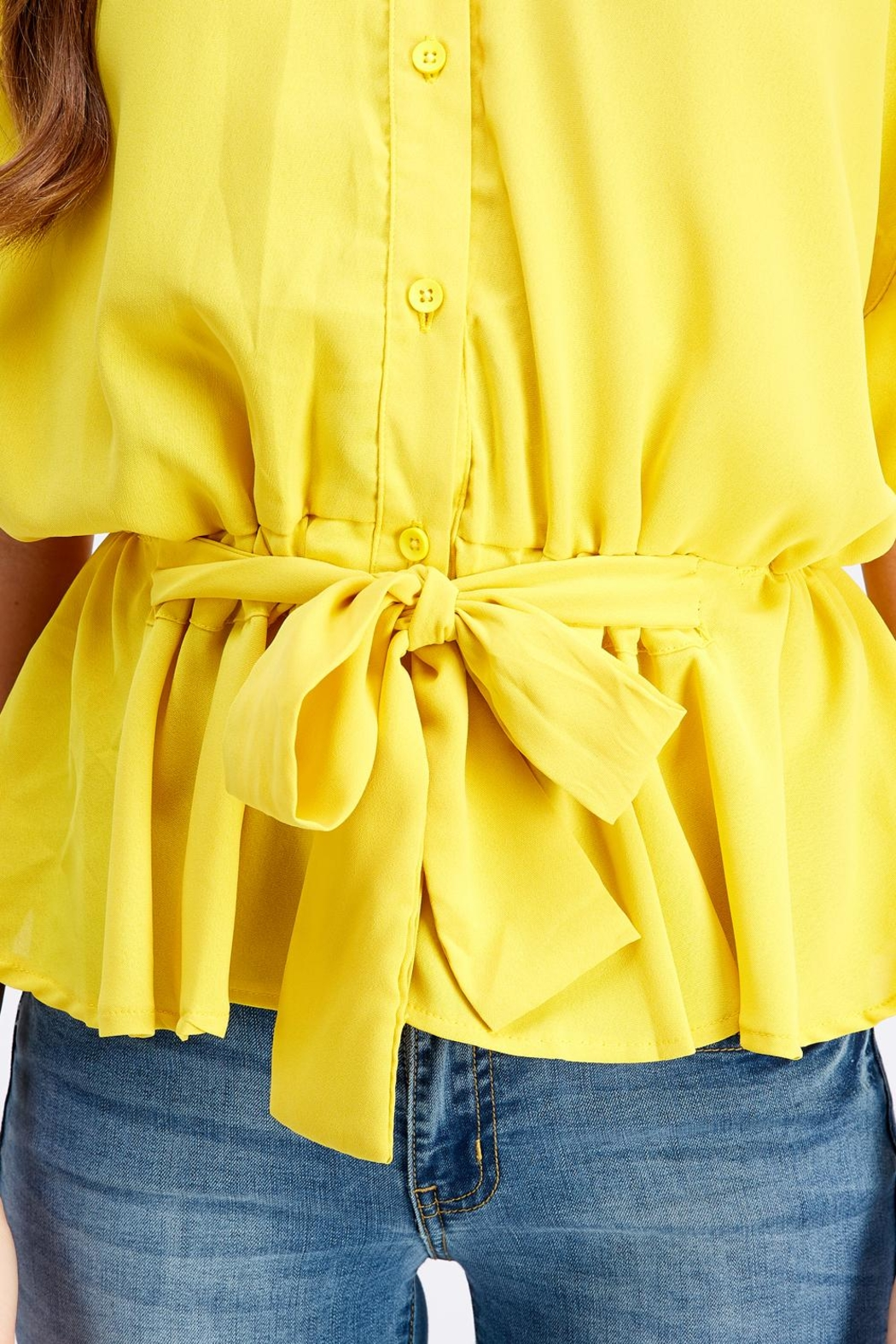 Favlux Button-Down Poncho Top - Back Cropped Image