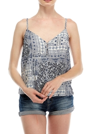 All In Favor Button-Down Printed Cami - Front cropped