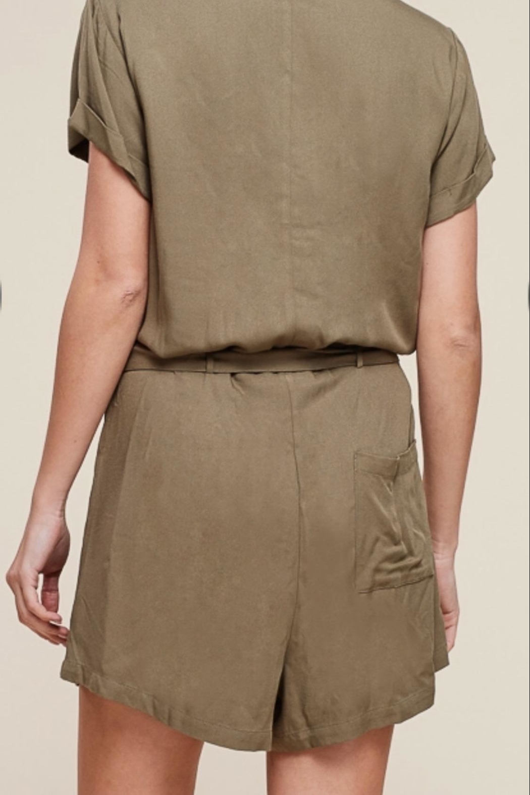 Staccato Button Down Romper - Side Cropped Image