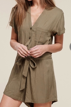Staccato Button Down Romper - Product List Image