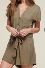 Staccato Button Down Romper - Front cropped