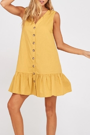Wishlist Button-Down Ruffle-Hem Shift-Dress - Product Mini Image