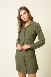 Olivia Pratt Button-Down Self-Tie Dress - Product Mini Image
