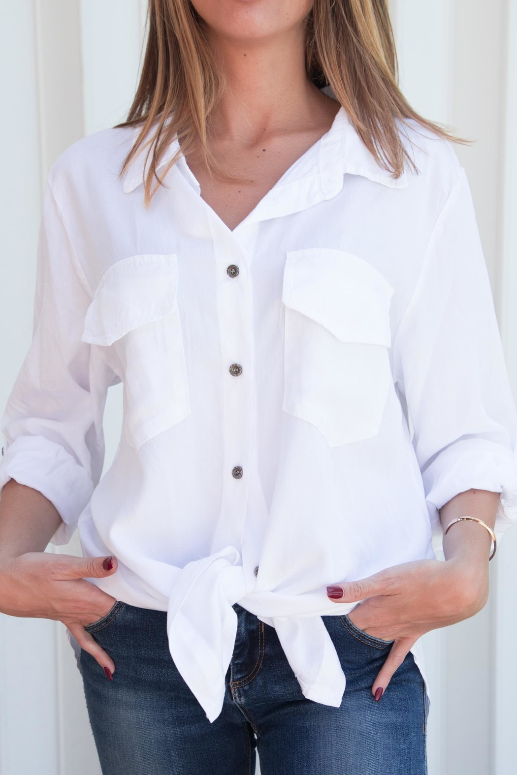 Brand Bazar Button-Down Shirt - Front Cropped Image