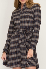 She + Sky Button Down Shirt-Dress - Product Mini Image