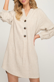 She & Sky  Button down shirt dress - Product Mini Image