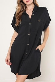 Mustard Seed Button-Down Shirt-Dress - Product Mini Image