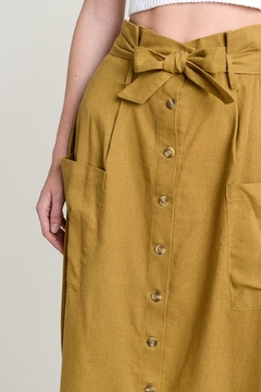Hem & Thread Button Down Skirt - Alternate List Image