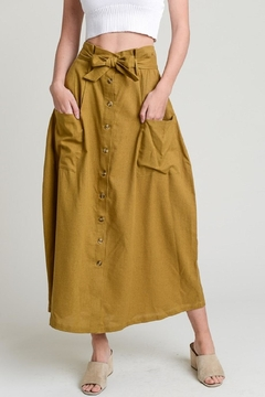 Hem & Thread Button Down Skirt - Product List Image