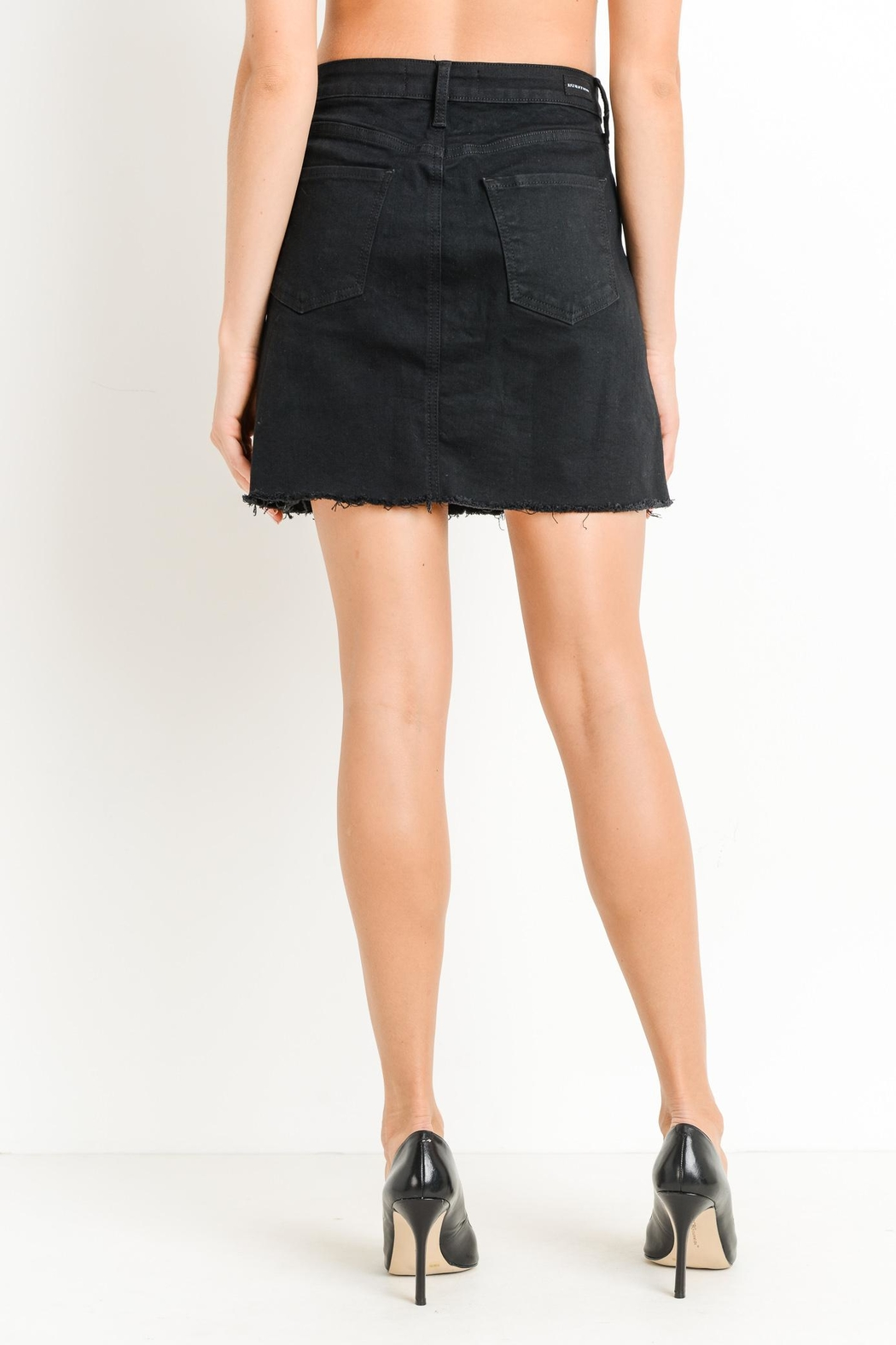 just black Button-Down Skirt - Side Cropped Image