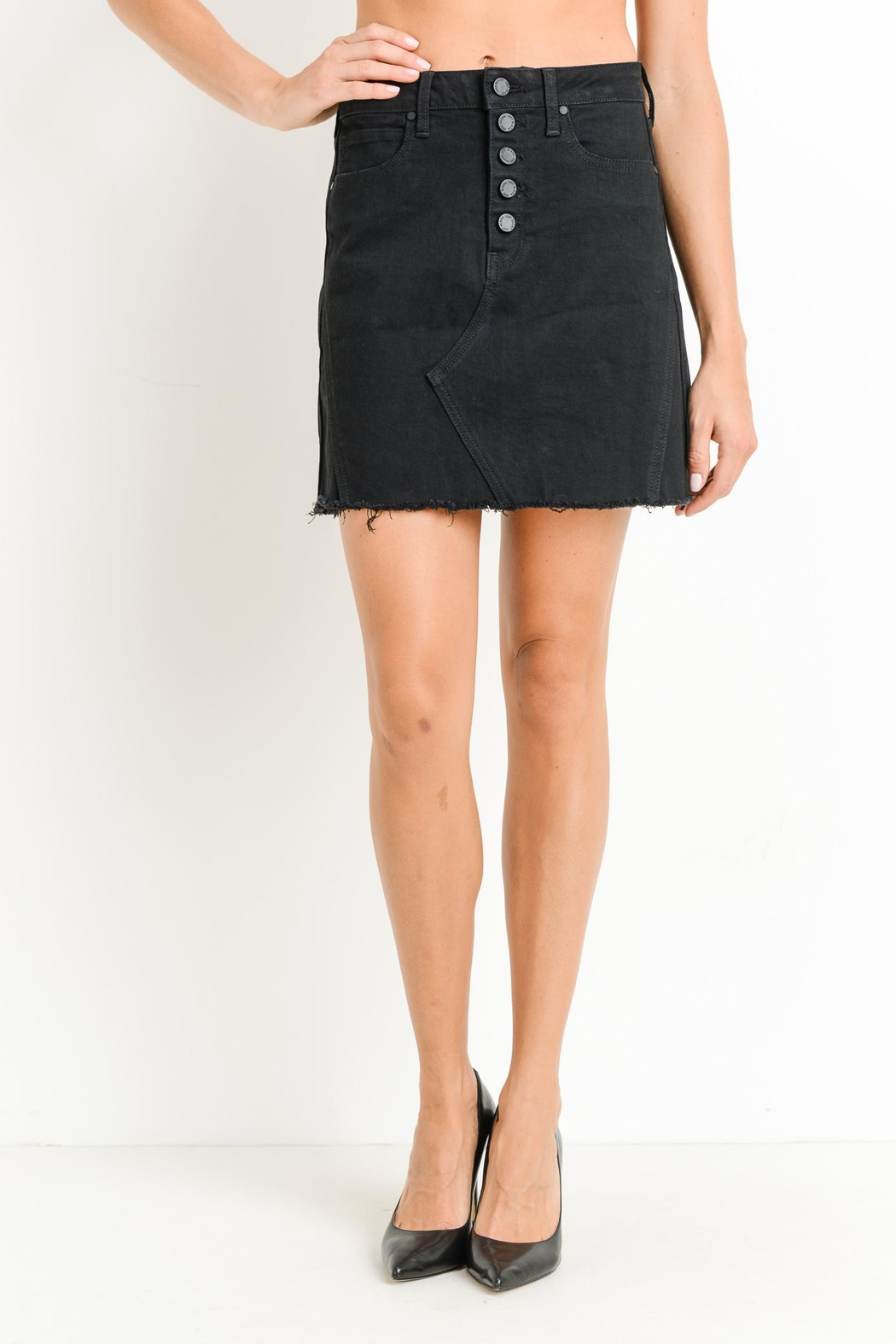 just black Button-Down Skirt - Main Image