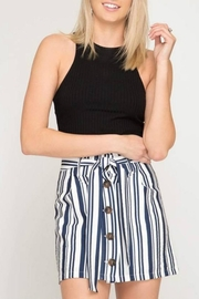 She + Sky Button-Down Stripe Mini - Product Mini Image