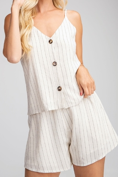 Glam Button Down tank top - Product List Image
