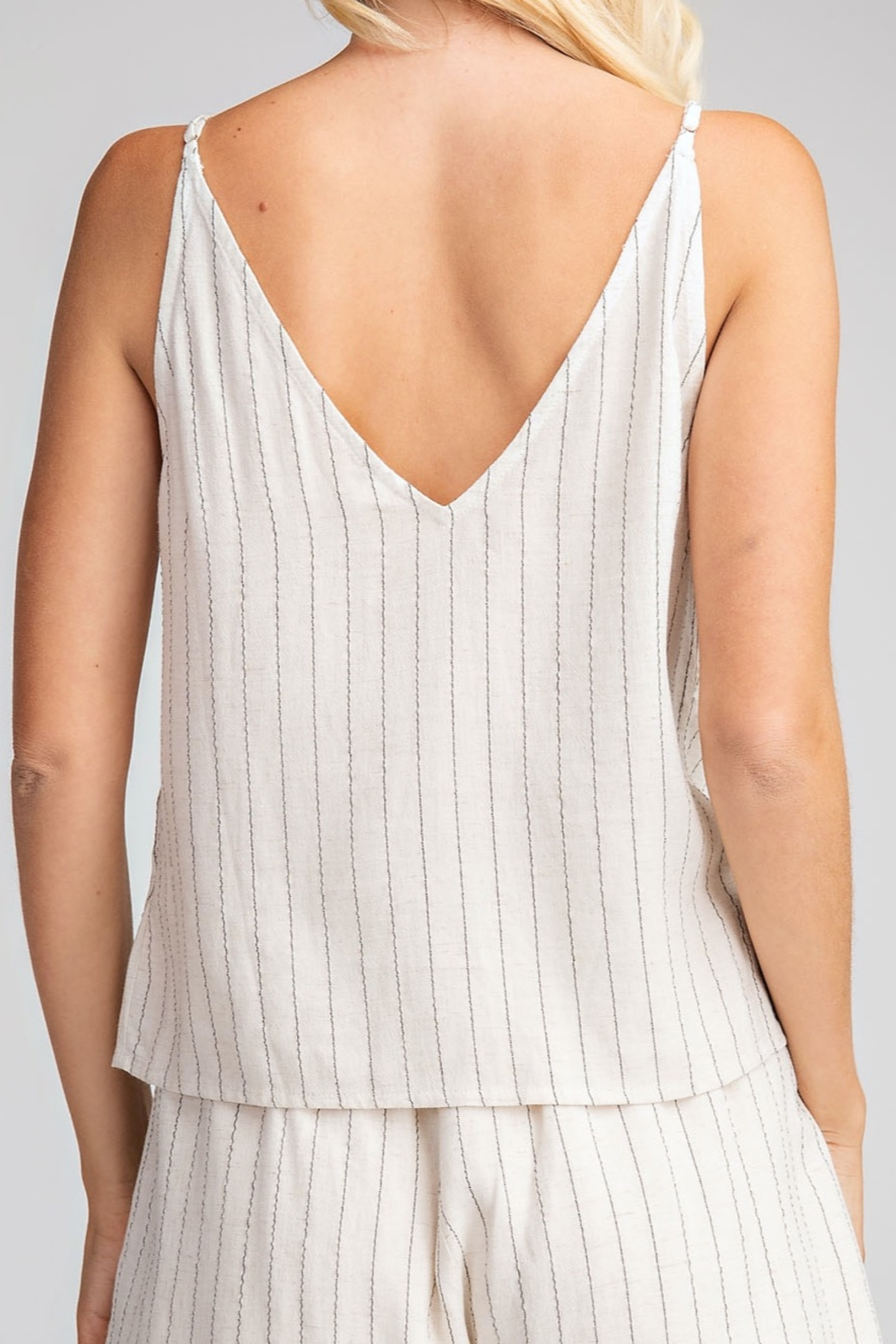 Glam Button Down tank top - Front Full Image