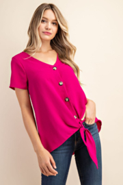FSL Apparel BUTTON DOWN TIE FRONT TOP - Product Mini Image