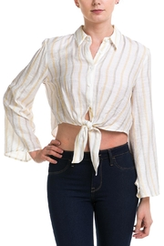 lunik Button-Down Tie Top - Product Mini Image