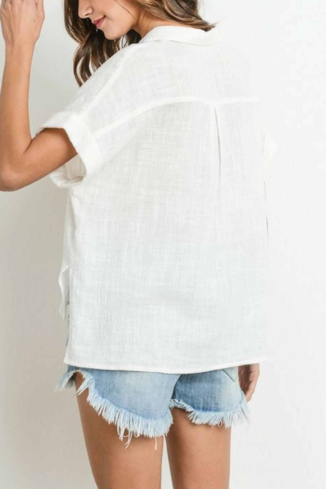 Le Lis Button Down Top - Side Cropped Image