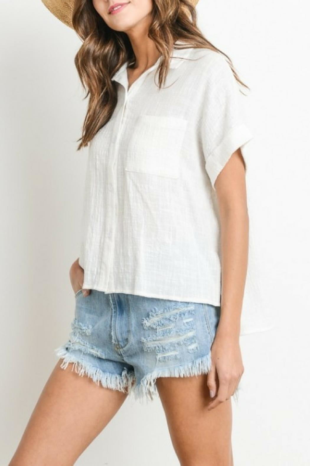 Le Lis Button Down Top - Front Full Image