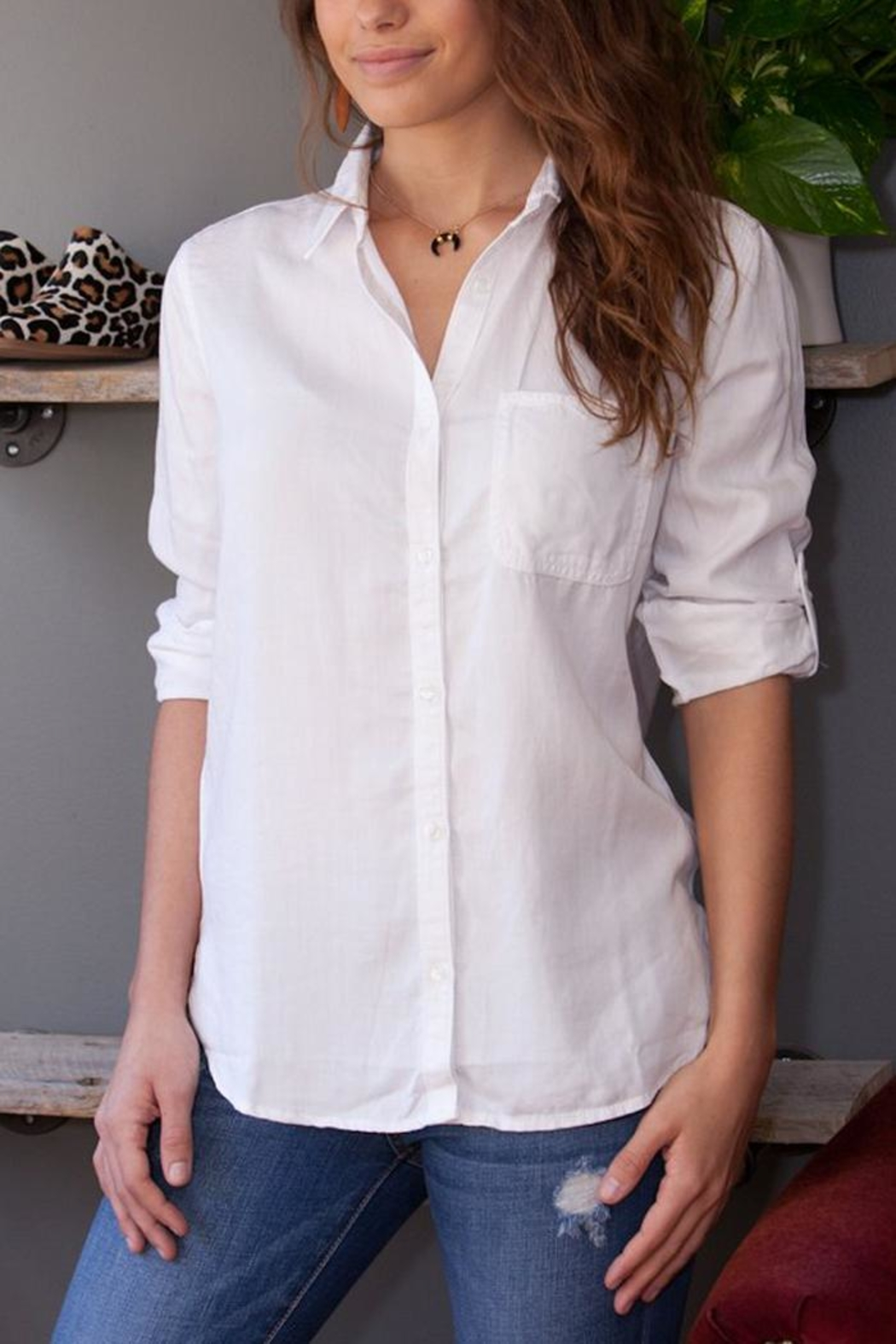 Sneak Peek Button Down Top - Main Image