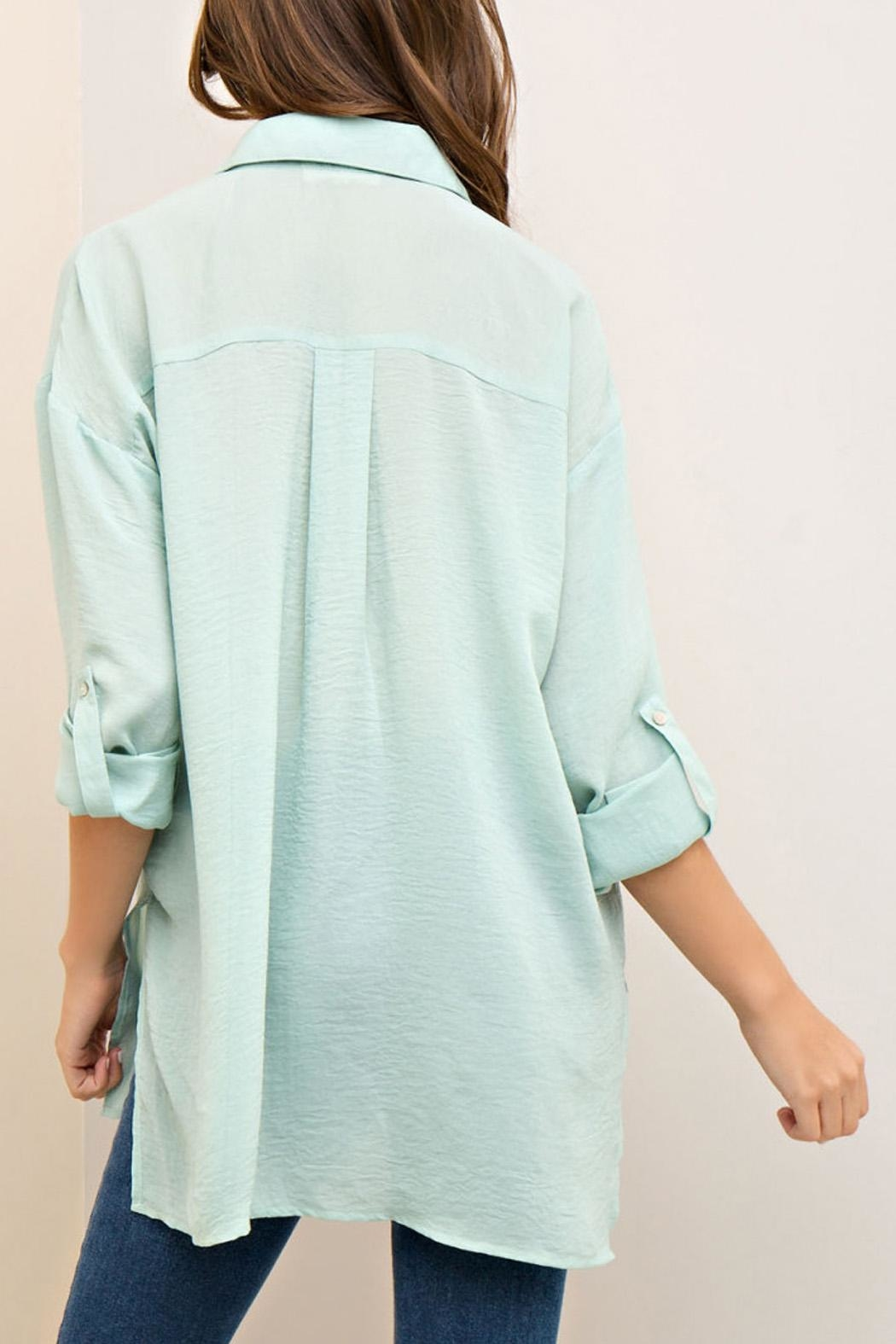 Entro Button Down Top - Back Cropped Image