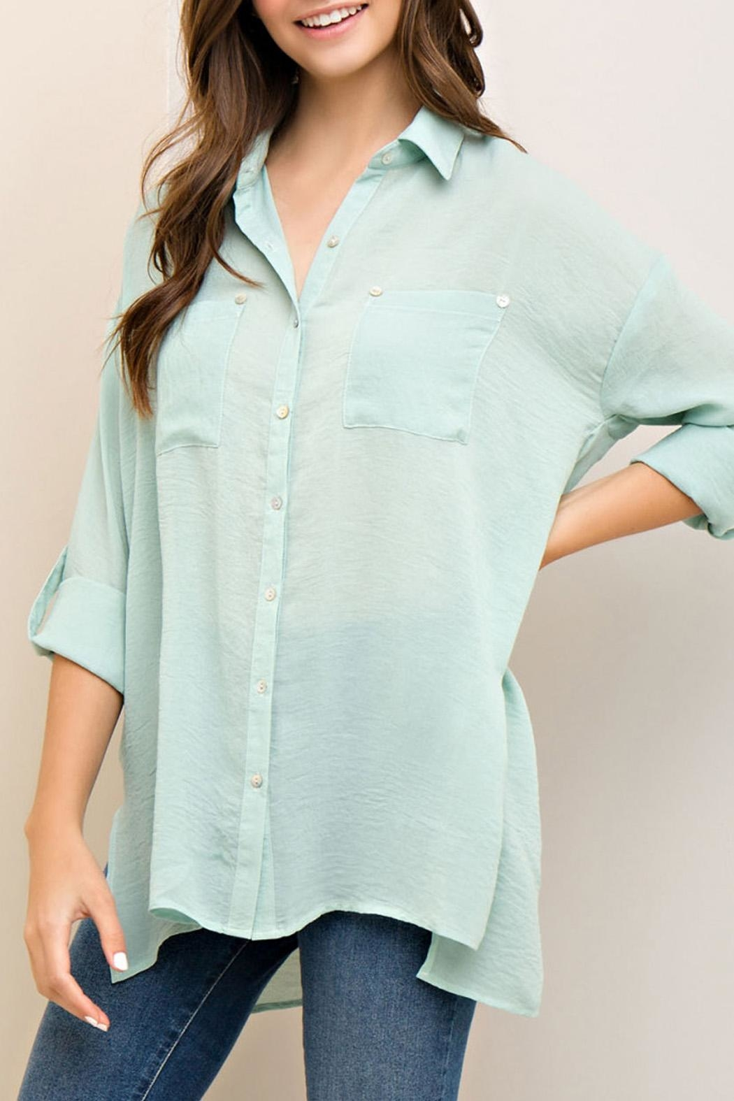 Entro Button Down Top - Front Full Image