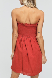 crescent Button Down Tube Dress - Front full body