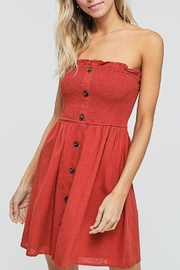 crescent Button Down Tube Dress - Product Mini Image