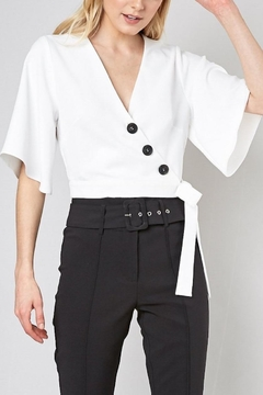 Do & Be Button-Down Wrap Top - Product List Image