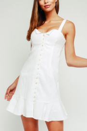 Olivaceous Button Flare Dress - Product Mini Image