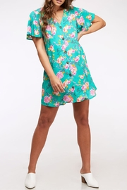 Peach Love California Button Floral Dress - Product Mini Image
