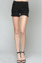 Vervet Button-Fly Black Shorts - Product Mini Image