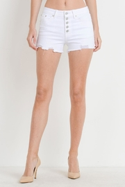 JBD Button-Fly High-Rise Shorts - Product Mini Image