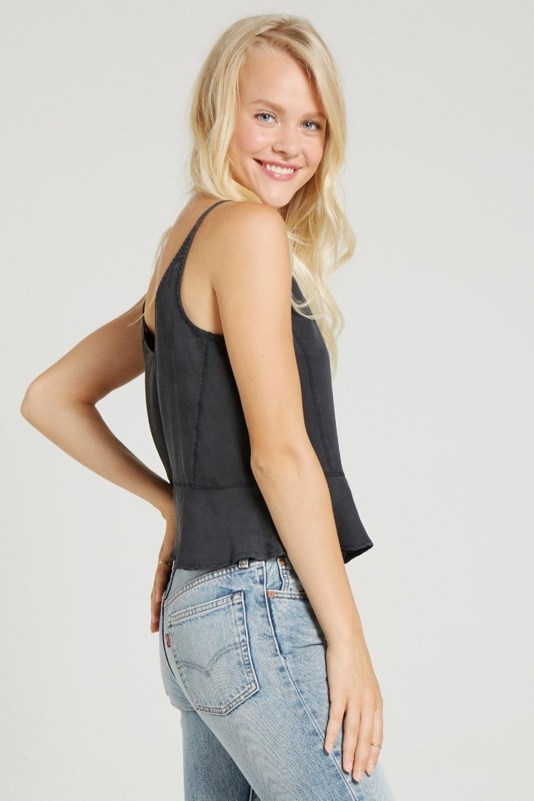 Bella Dahl Button Front Cami - Back Cropped Image