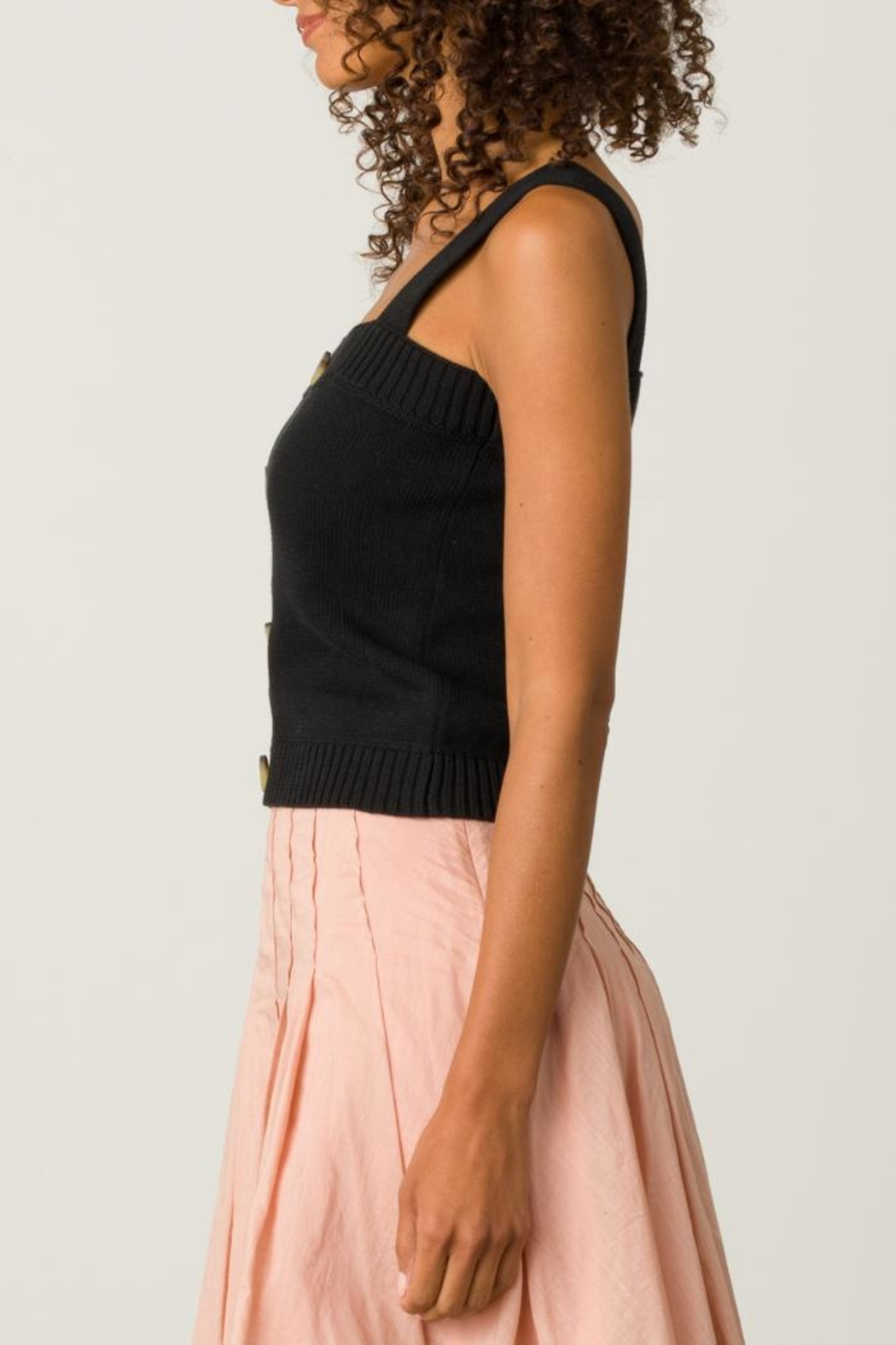 Margaret O'Leary Button Front Camisole - Front Full Image