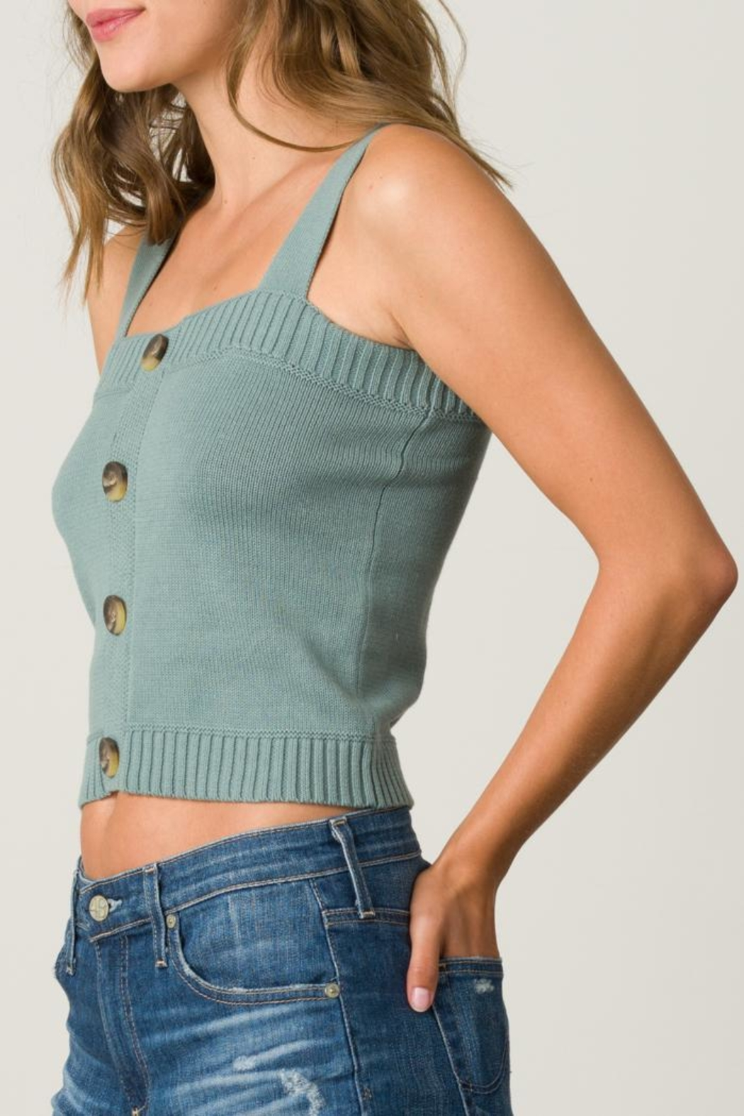 Margaret O'Leary Button Front Camisole - Front Cropped Image