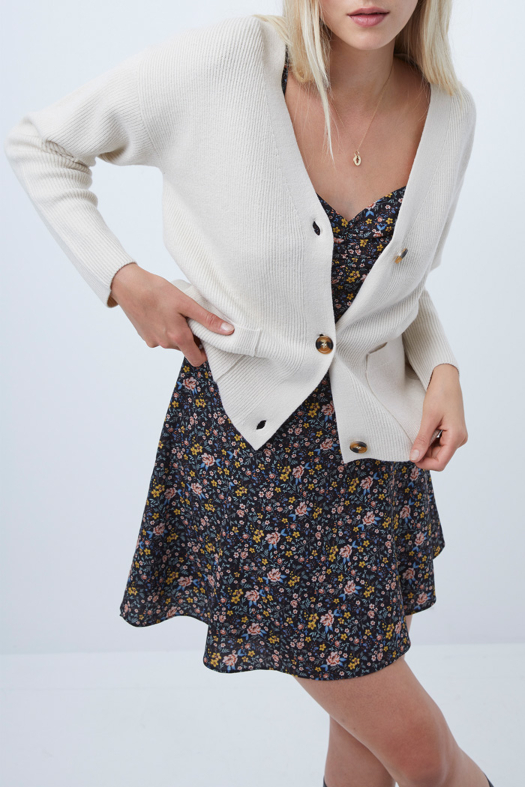 French Connection Button Front Cardigan Sweater - Side Cropped Image
