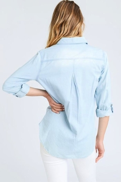 Love Tree Button-Front Chambray Shirt - Alternate List Image