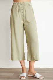 Bella Dahl Button Front Crop Pant - Product Mini Image