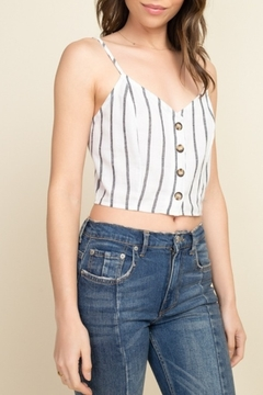 Timing Button Front Crop Top - Product List Image