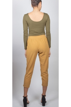 Final Touch Button-Front Cropped Trouser - Alternate List Image