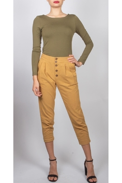 Final Touch Button-Front Cropped Trouser - Product List Image