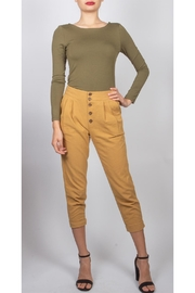 Final Touch Button-Front Cropped Trouser - Product Mini Image
