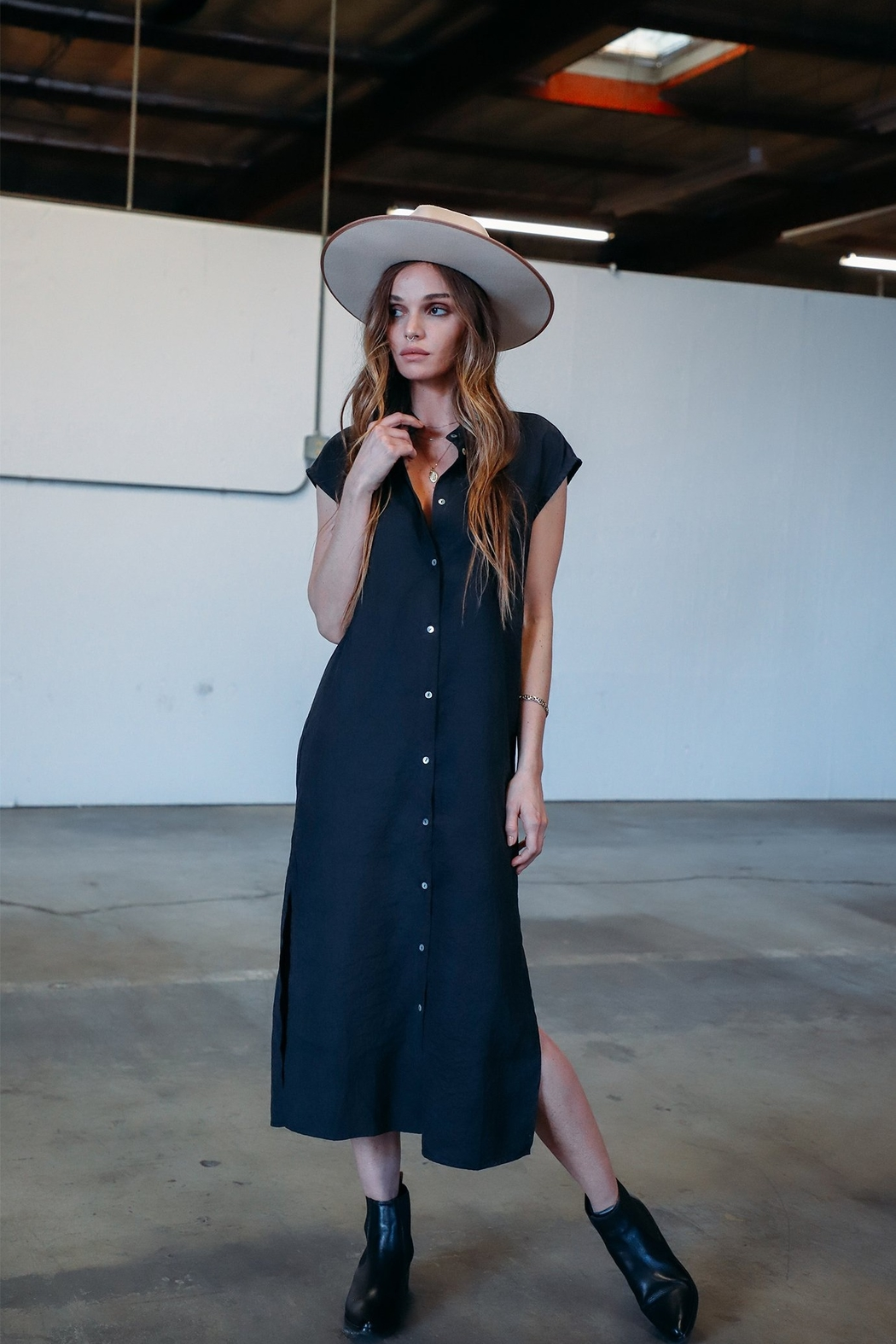 ThredNY Button front dress - Main Image