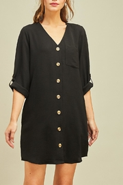Entro Button Front Dress - Product Mini Image