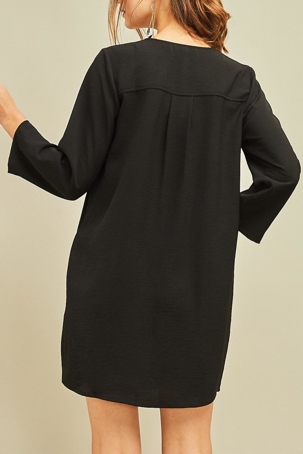 Entro Button Front Dress - Back Cropped Image